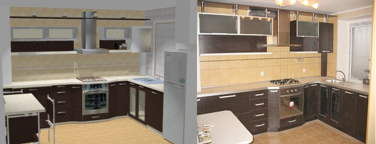 Кухня в стиле HiTech