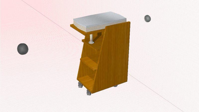 Мобильный столик для сканера