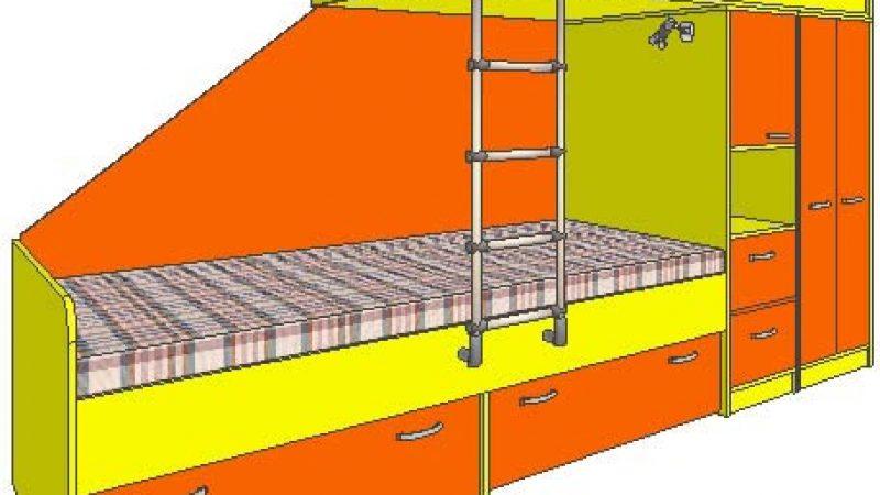 Двухярусная детская кровать