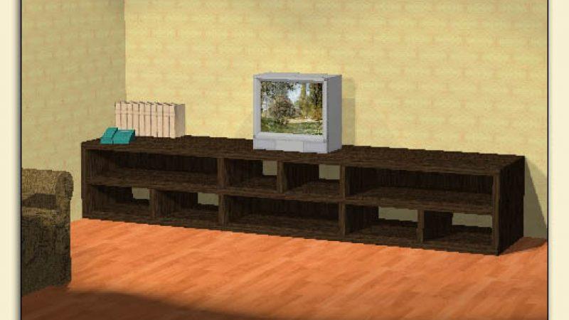 Длинная тумба под телевизор