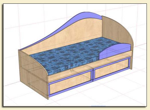 Кровать 1952х880