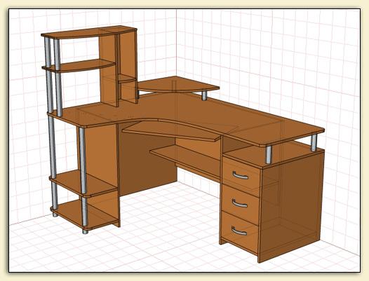 """Проекты pro100 """" столы."""