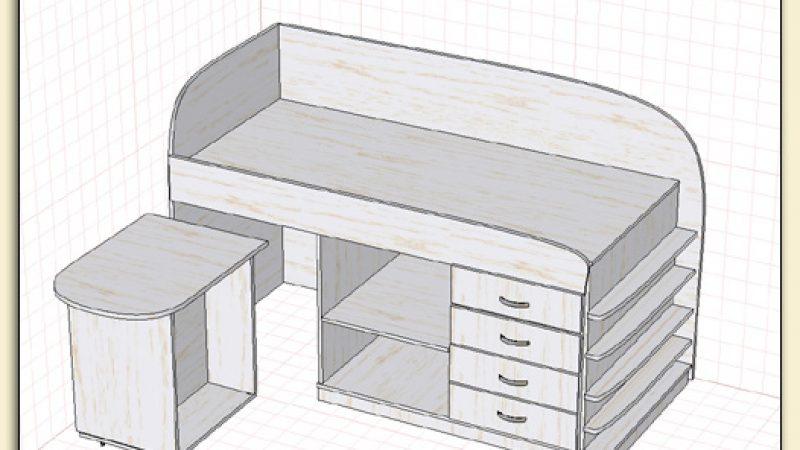 Кровать со столиком для Риты