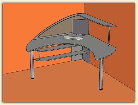"Проекты pro100 "" архив сайта "" компьютерный стол."