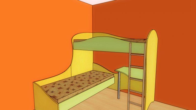 Детская кровать угловая
