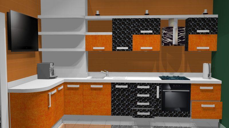 Кухня «Малина2»