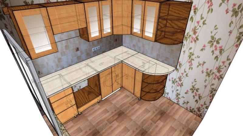 Кухня угловая (в хрущевку)
