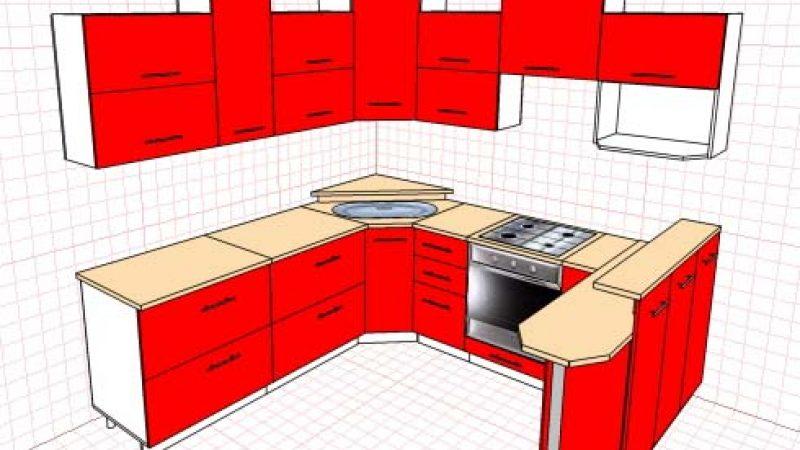 Кухня, красный глянец