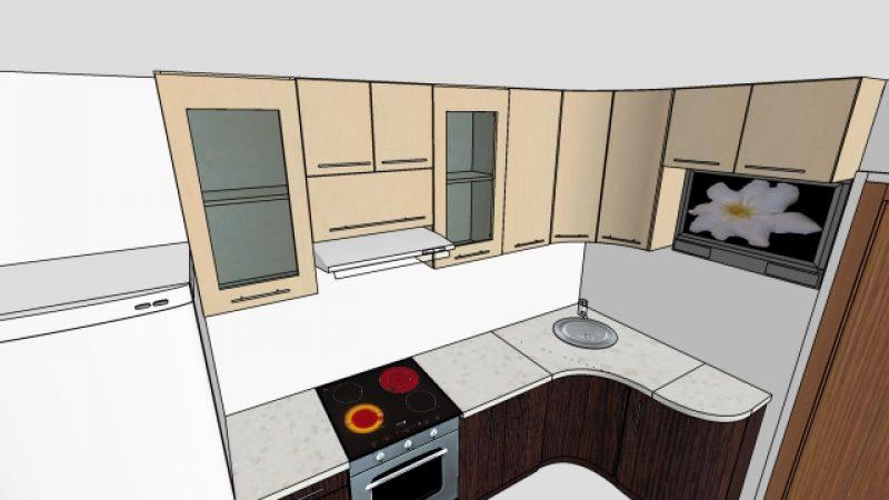 Угловая кухня МДФ
