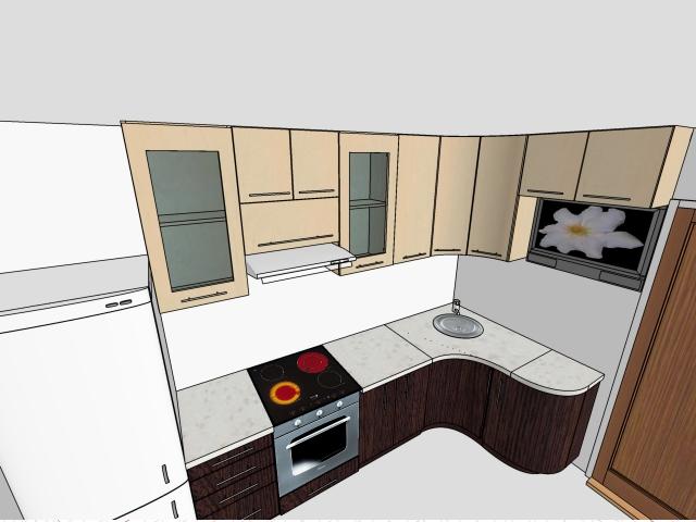 Маленькая кухня угловая 100 90