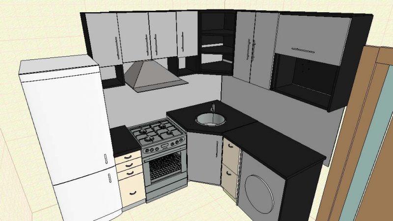Кухня в хрущевку
