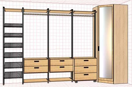 Шкаф со стеллажной системой