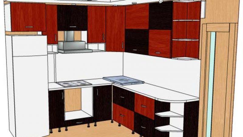 Кухня угловая, трех-цветная