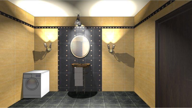Ванная комната в египетском стиле