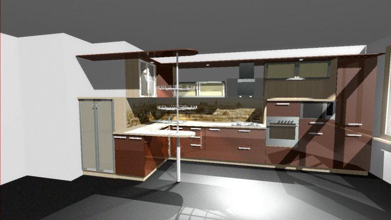 Кухня «Снегири»